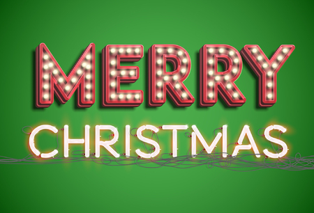 Merry Christmas typography, vector