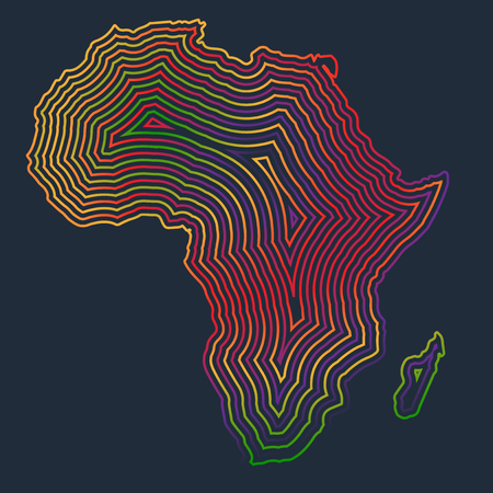libya: Colorful Africa, Vector
