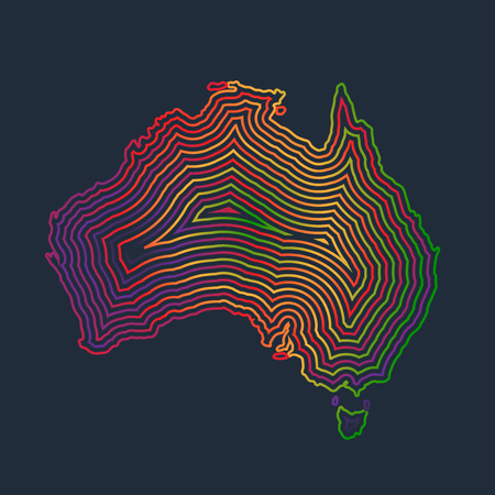 Abstract colorful Australia