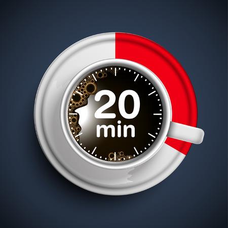 20 minuten koffiepauze, vector