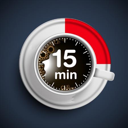 15 minuten koffiepauze, vector