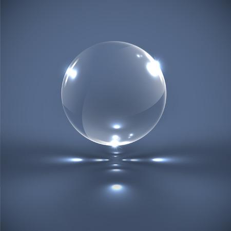 Realistische zeepbel, vectorillustratie