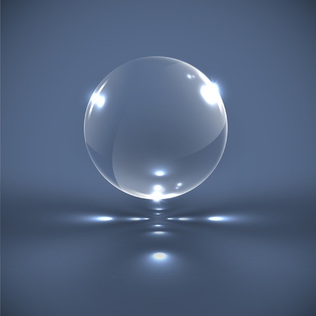 Realistic bubble, vector illustration Illustration