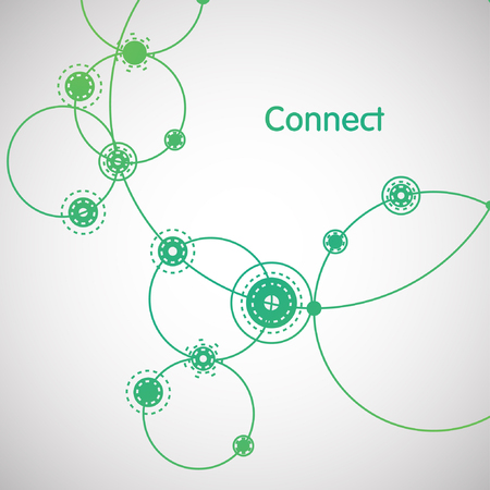 Connection background, vector