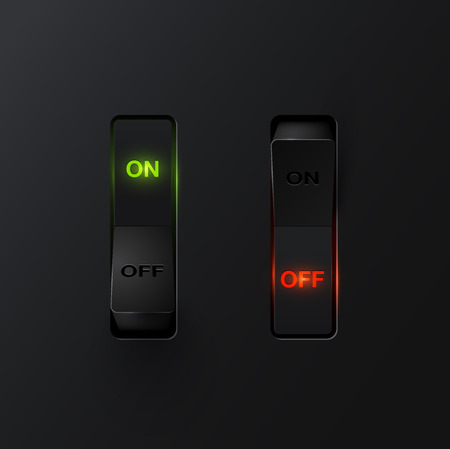 Realistic switch ON / OFF, vector