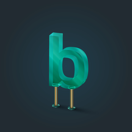 typefaces: Glass from the character typefaces, vector illustration