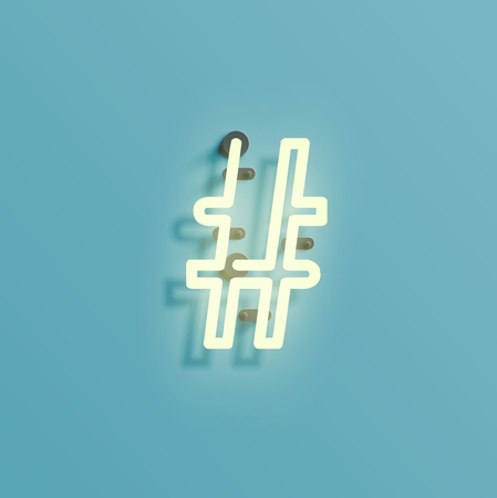 typefaces: Font typefaces from the Neon, vector illustration Illustration