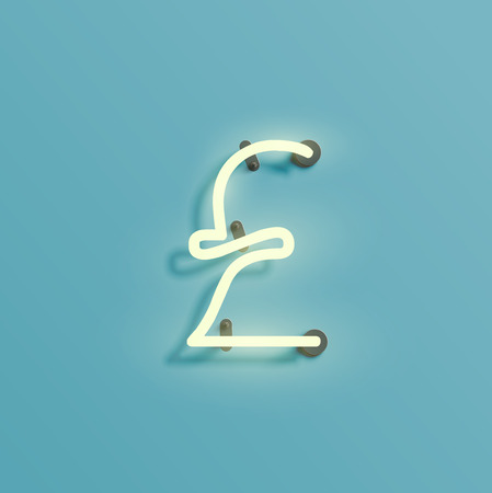 Font typefaces from the Neon, vector illustration Vectores