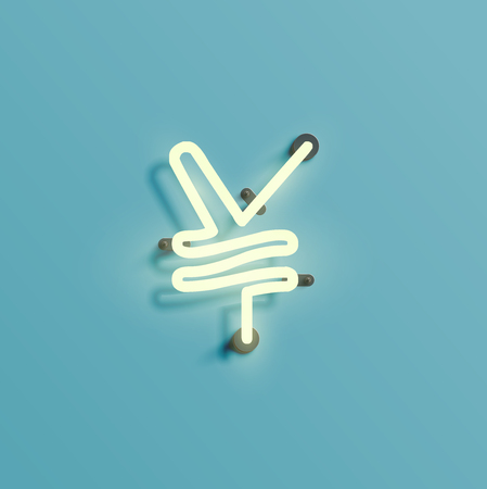 Font typefaces from the Neon, vector illustration Illustration