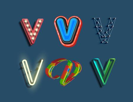 Diferentes stlyes utilizando una libra, vector Vectores