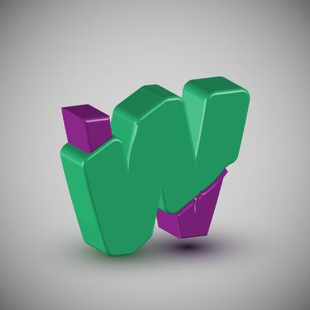 3D colorful font, vector