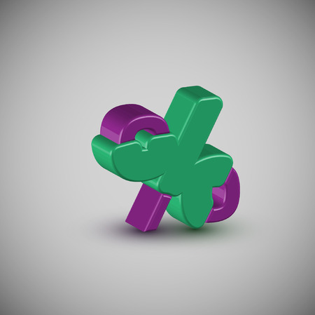3D colorful character, vector Illustration