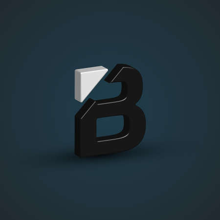 balck and white: Balck & white 3d character from the typeset, vector