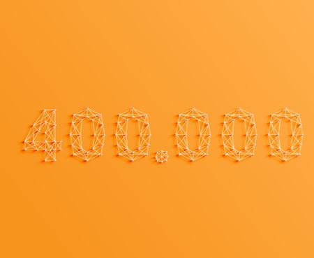 The number made by strings and pins, vector