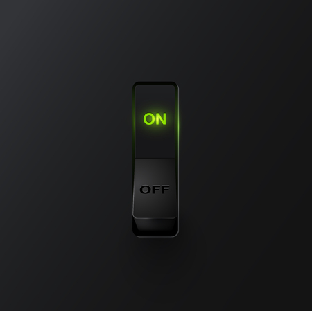 Realistic black with backlight switches ON, vector