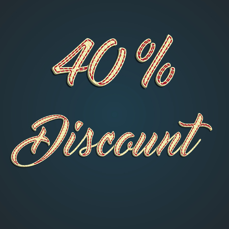 40% Discount made by leather pounds Illustration