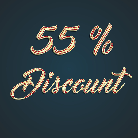 55% Discount made by leather pounds Illustration