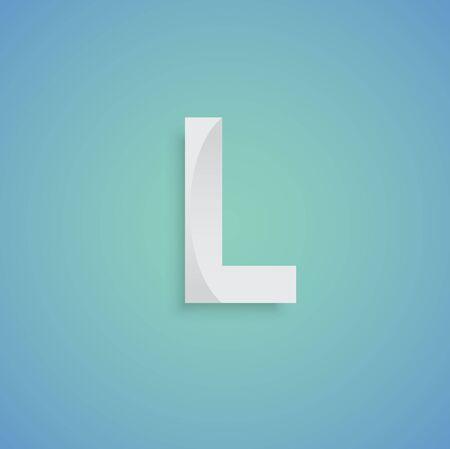 typeface: White Typeface design, vector Illustration