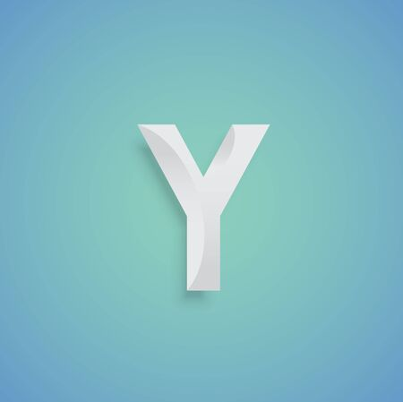 White Typeface design, vector Illustration