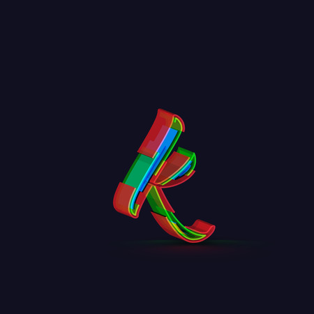 typeface: 3D colorful font from the Typeface, Vector