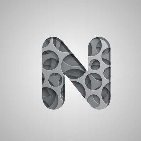 logo element: Layered character from the typeset, vector
