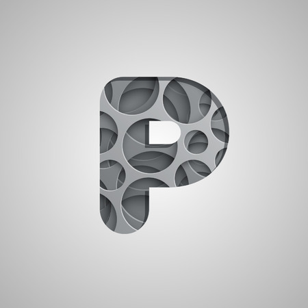 layered: Layered character from the typeset, vector