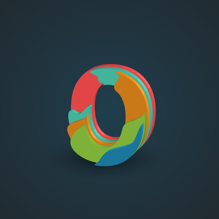 hebrew letters: Colorful papercut layered font from the Typeface, Vector
