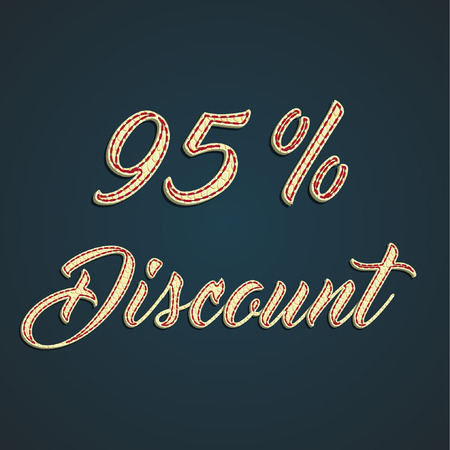 leather label: Sale made by leather label, vector illustration