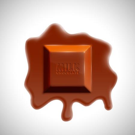 Realistic 3D chocolate bar, vector