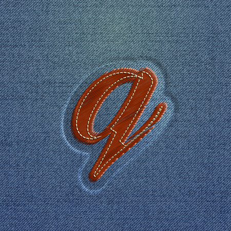 typefaces: Embroidered character from the typefaces, vector