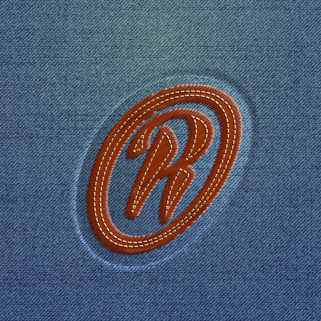 embroidered: Embroidered character from the typefaces, vector