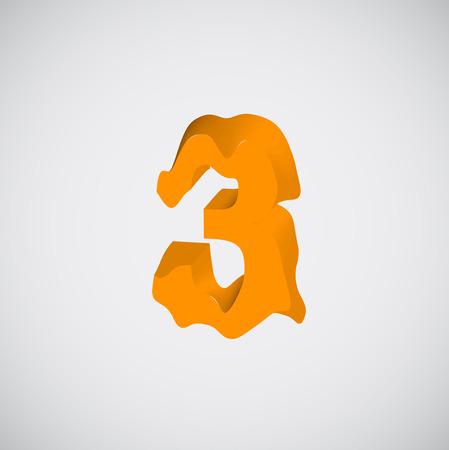 melting: Melting orange character, vector