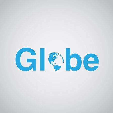 includes: Globe text includes earth, vector illustration Illustration