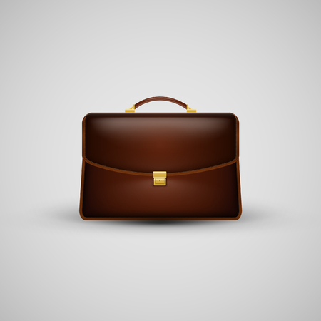 Realistic suitcase icon, vector