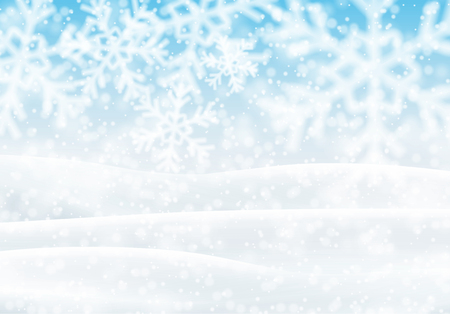 snowy: Snowy Landscape, vector