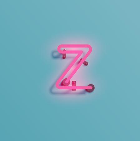 Fuente de neón, ilustración vectorial.