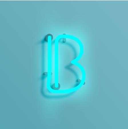Neon font vector illustration.