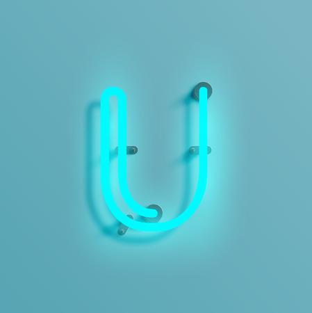 Neon font, vector illustration