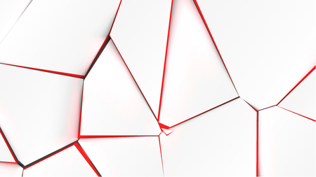 Broken surface with red color in the inside, vector illustration Vettoriali