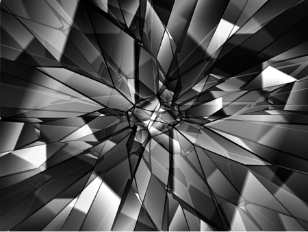 Broken glass background, vector Banque d'images - 125061906