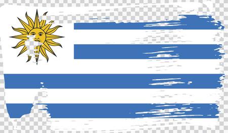 Grounge-styled flag, vector illustration Foto de archivo - 124971641