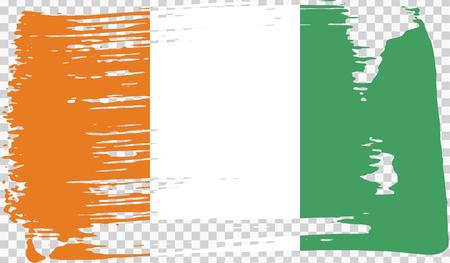 Grounge-styled flag, vector illustration Foto de archivo - 124971658