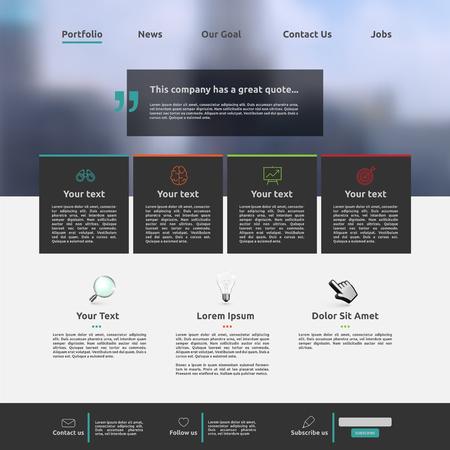 Moderne Website-Vorlage für Unternehmen, Vektorillustration