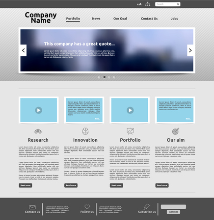 Nowoczesny szablon strony internetowej dla biznesu, ilustracji wektorowych