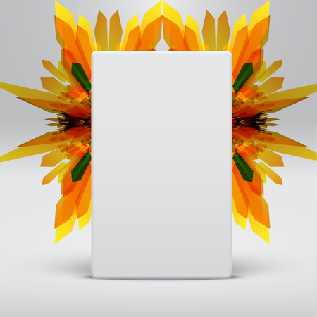 White abstract template with yellow arrows background, vector