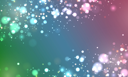 Colorful realistic glitter shines with bokeh, vector illustration Ilustrace