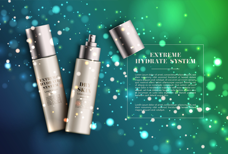 Realistic elegant spray product for advertising, vector illustration