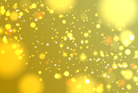 Colorful realistic glitter shines with bokeh, vector illustration Illustration