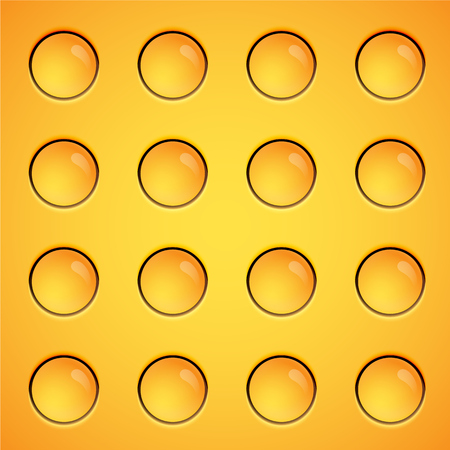 Yellow bubbles background, vector Ilustrace