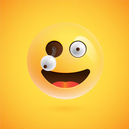 Realistic emoticon, vector illustration 向量圖像